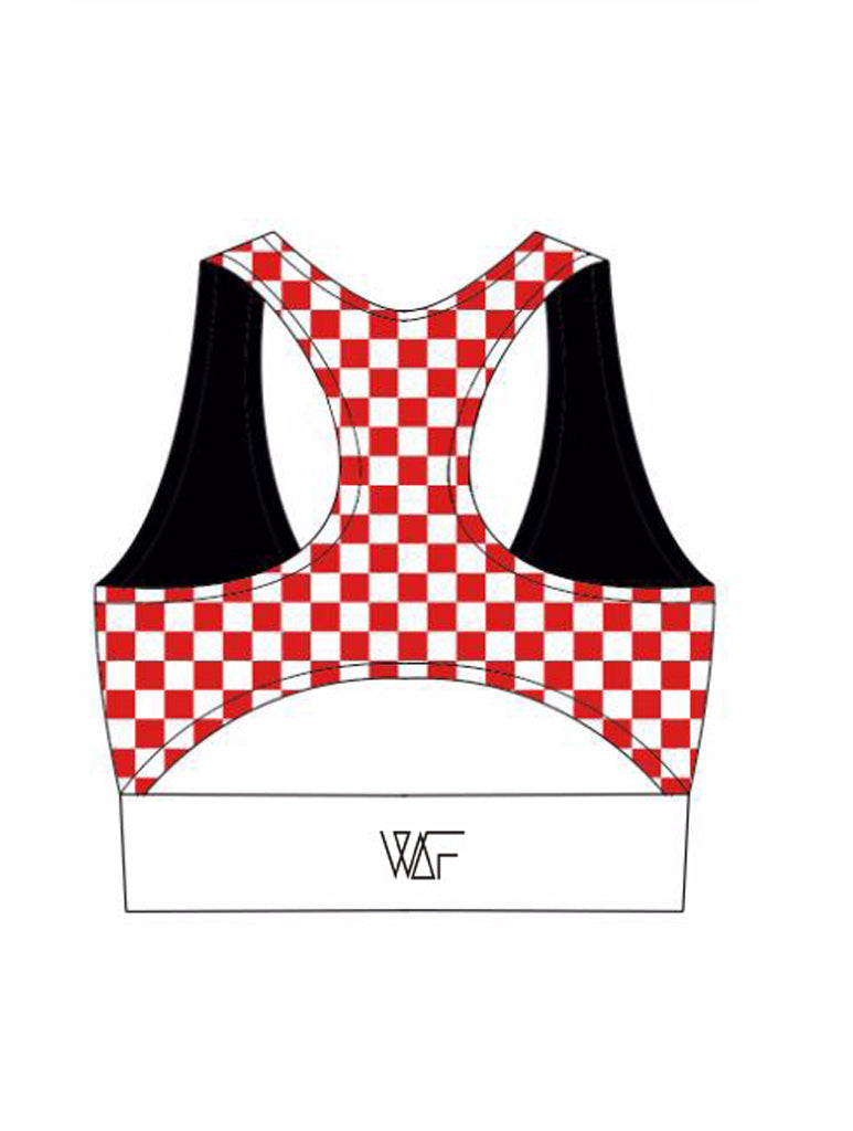 8c8cd163582aa Miss Moto Crop Top - black with red check – We Are Found Active