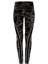 Soho Tights - Charcoal Floral