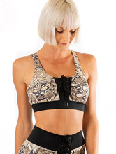 Miss Touchdown crop top - Snakeskin print