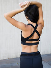 Tribeca black mesh crop top