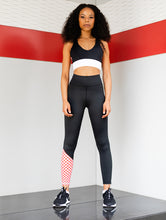 Miss Moto Tights - Black with red checks