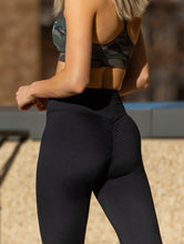 Basic Scrunch Booty Tights - Black