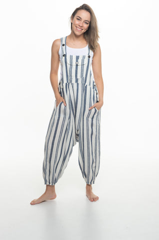 Cotton Thick Stripe Sammy Overall