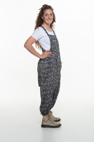 Silver Silk Floral Sammy Overall