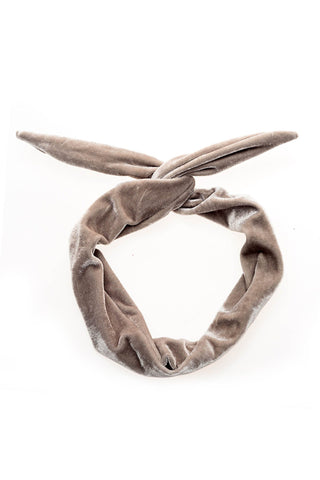 Beige Suede Wire Headband