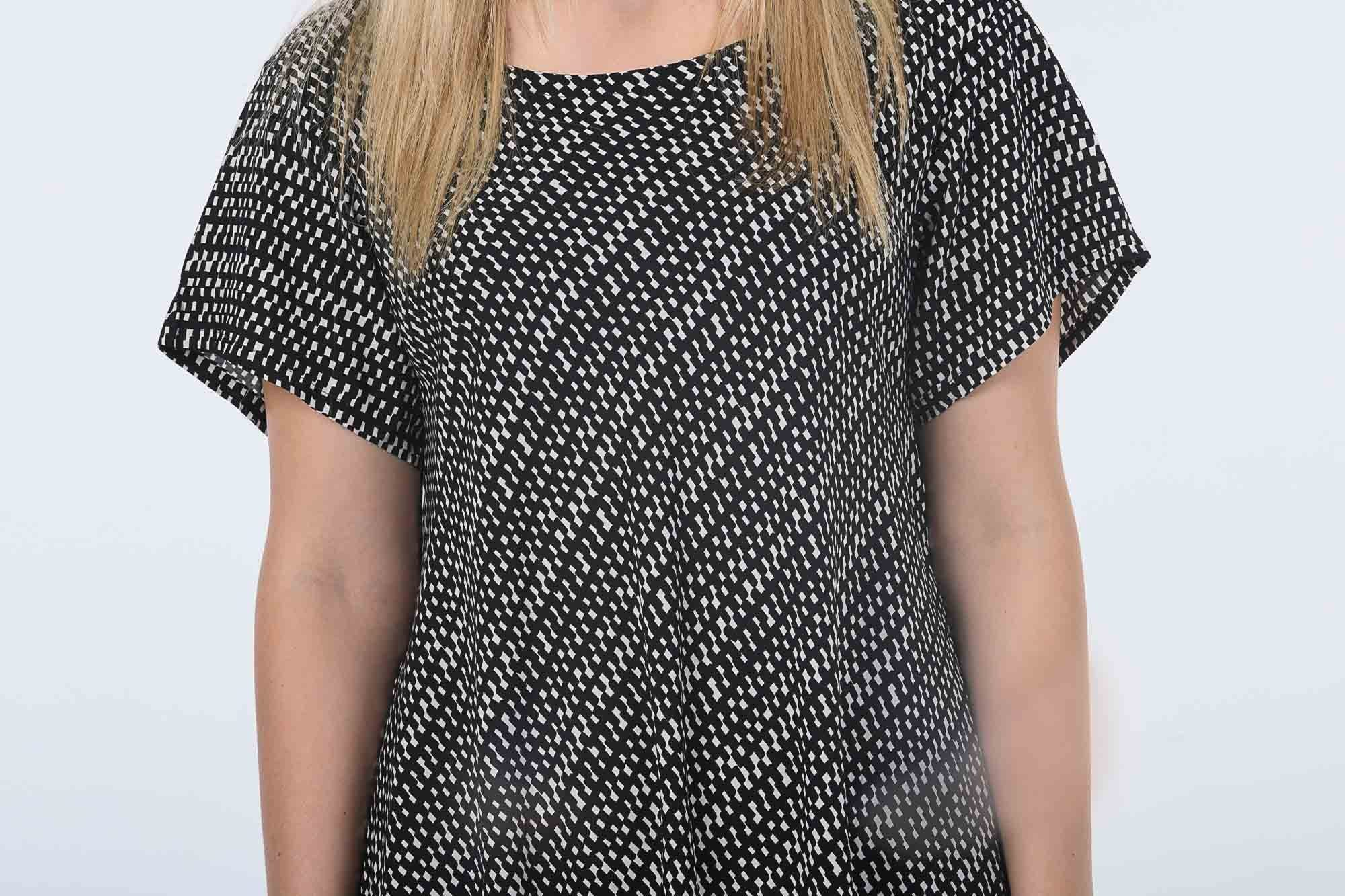 Black and White Check Charlie Dress