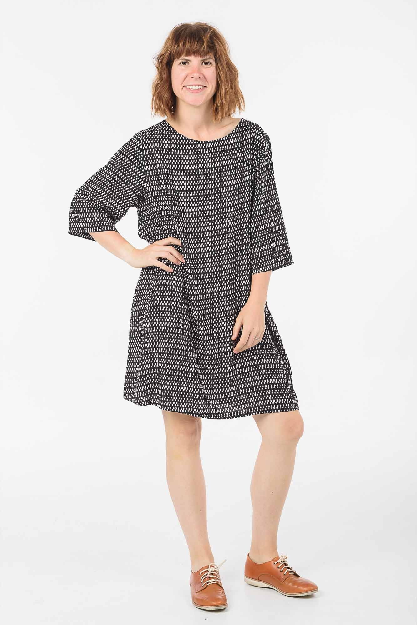 Black and White Check Sammy Dress
