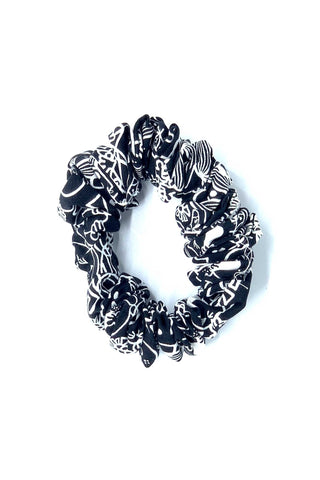 Black & White Toucan Scrunchie
