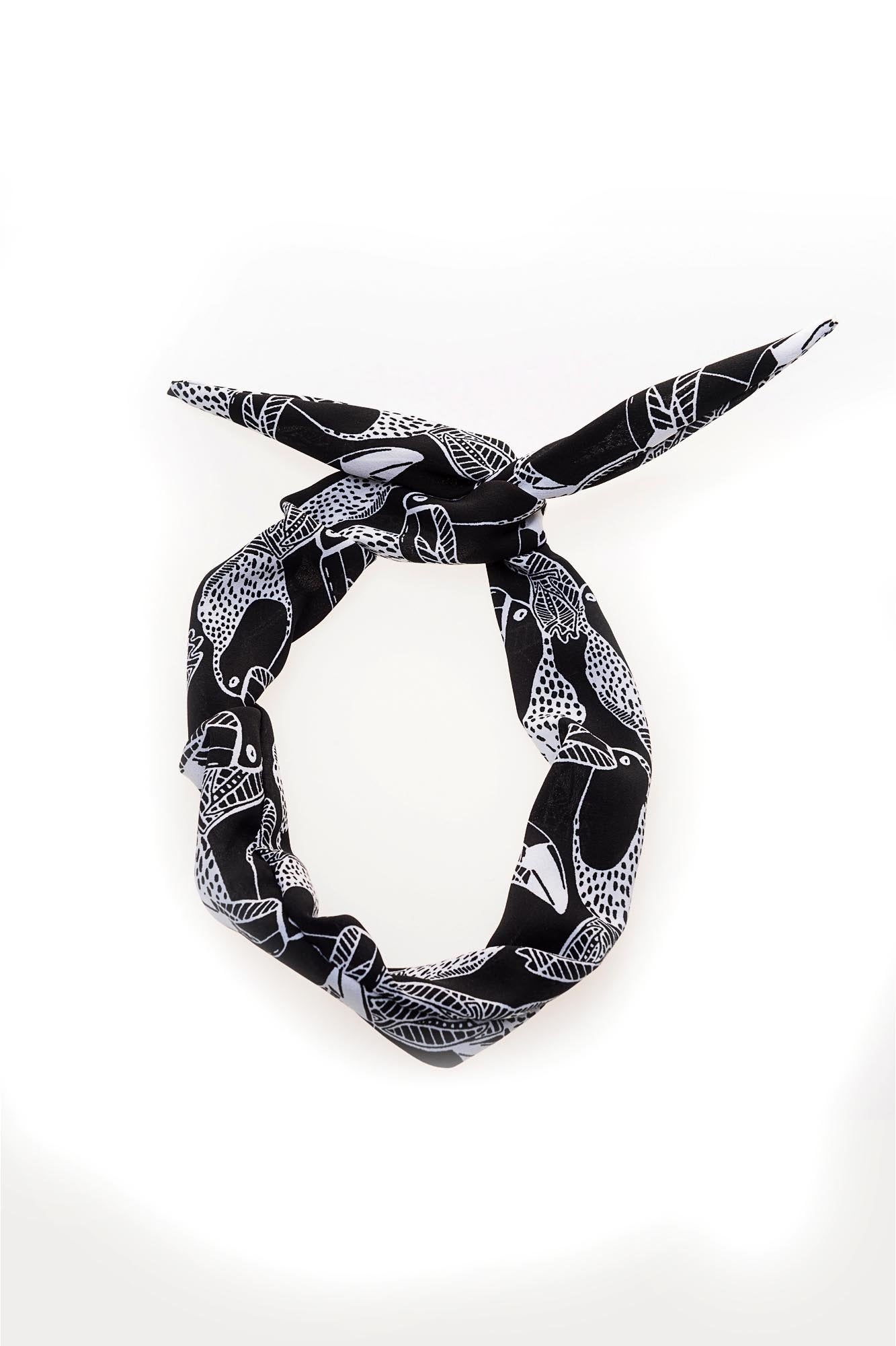 Black and White Toucan Wire Headband