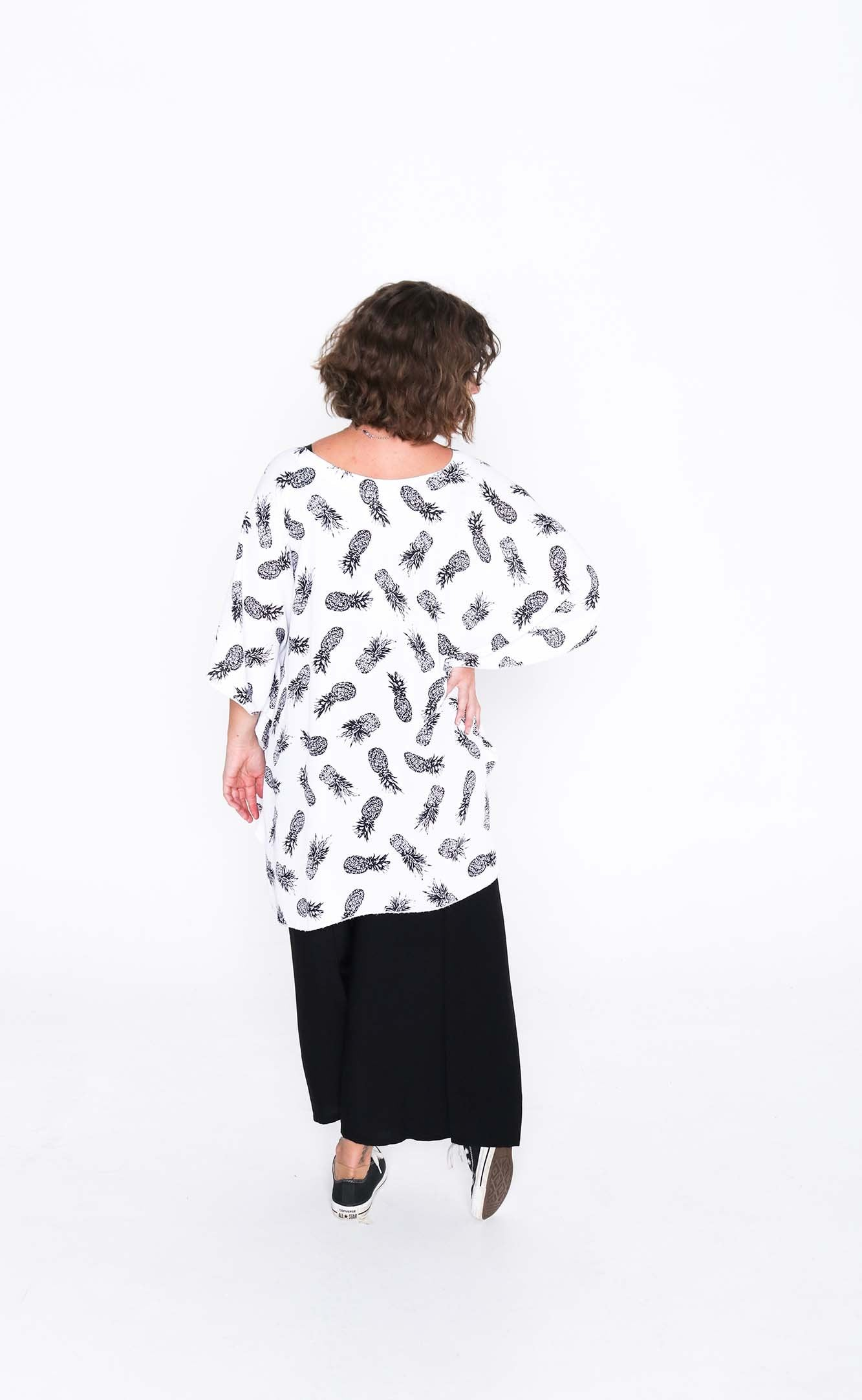 pineapple butterfly top - back