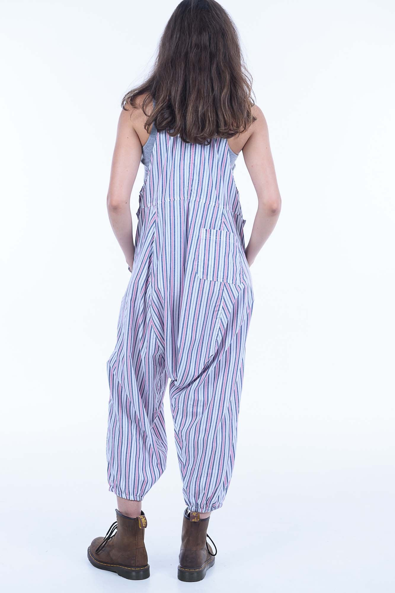 Candy Stripe Sammy Overalls