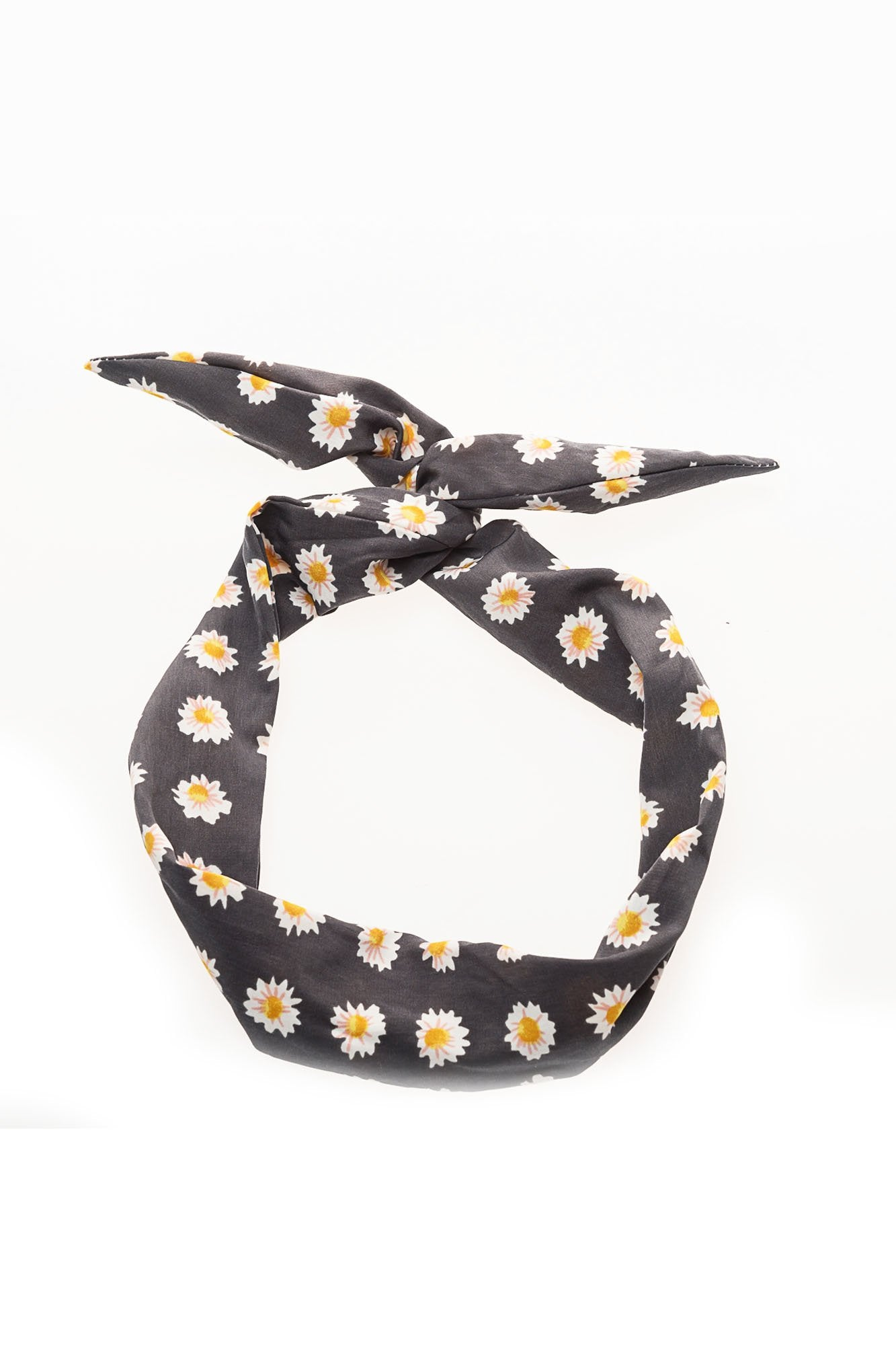 Charcoal Daisy Wire Headband
