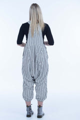 Charcoal Stripes Sammy Overalls