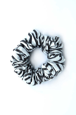 Charcoal Stripe Scrunchie