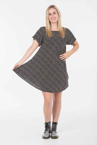 Black and Chocolate Check Charlie Dress