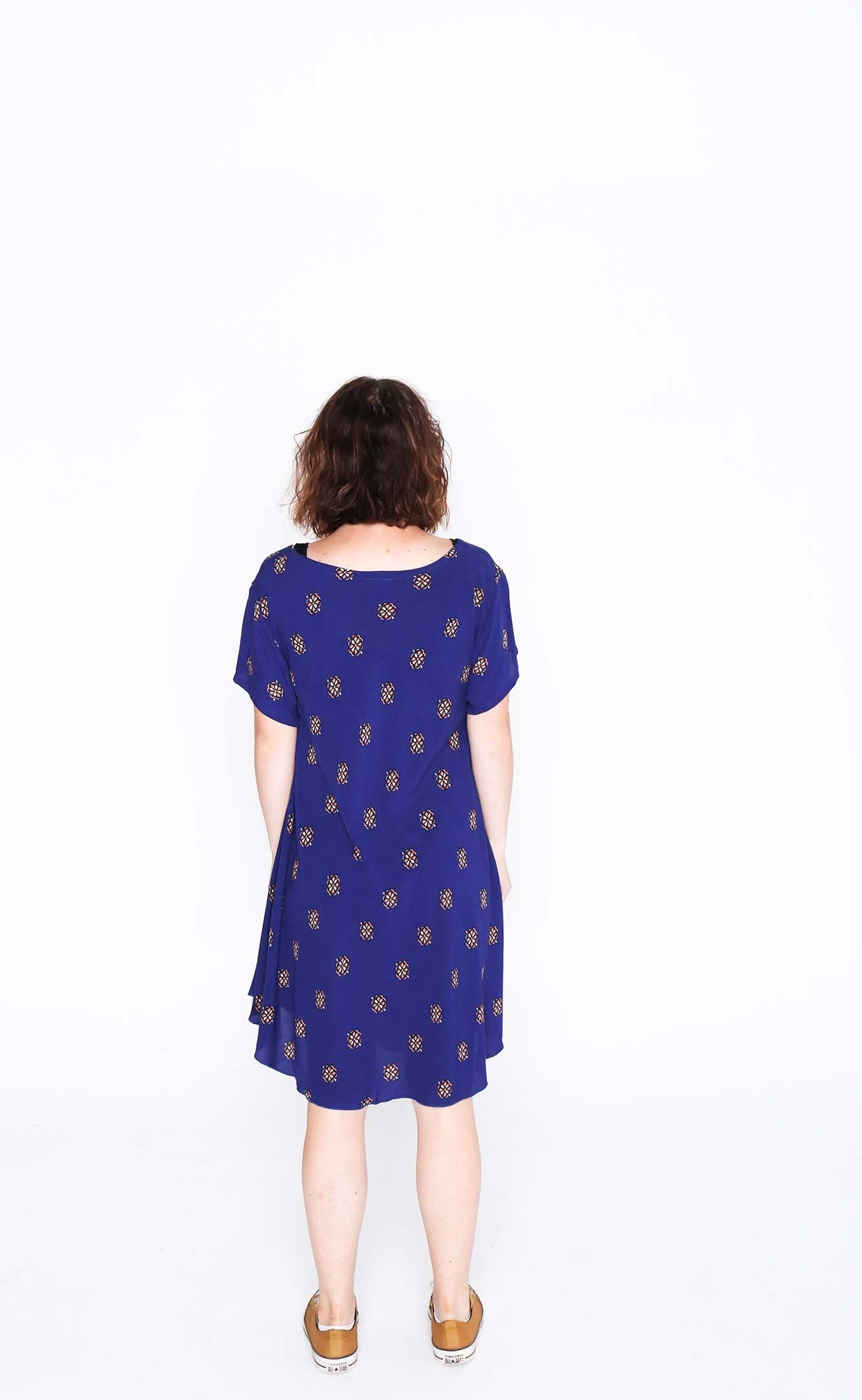 Violet Crumble Charlie Dress With Short Sleeve