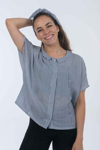 Cotton Stripe Gracie Shirt