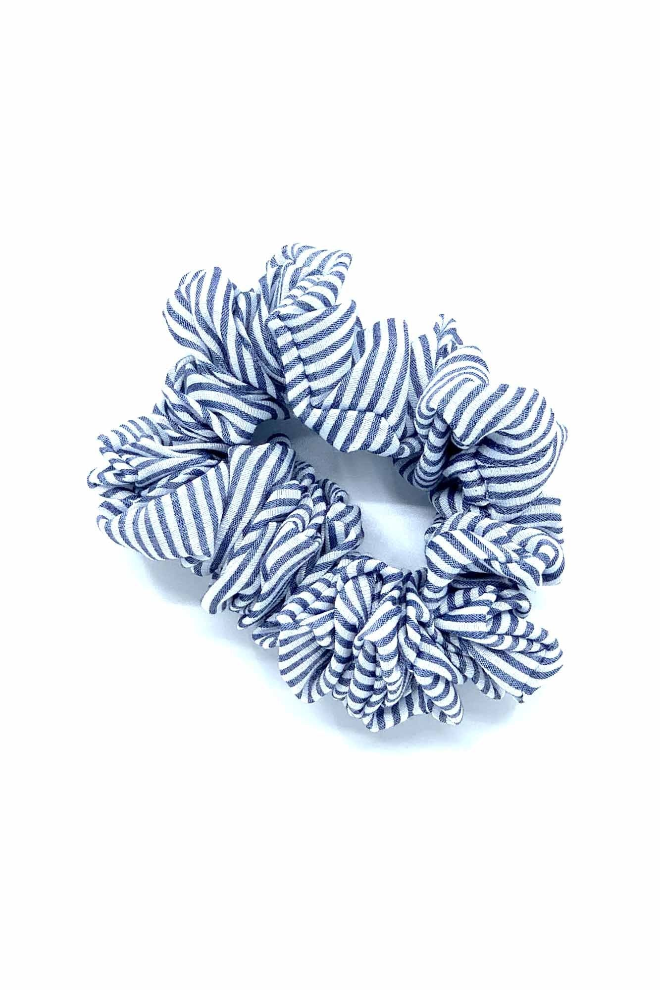 Cotton Stripe Scrunchie