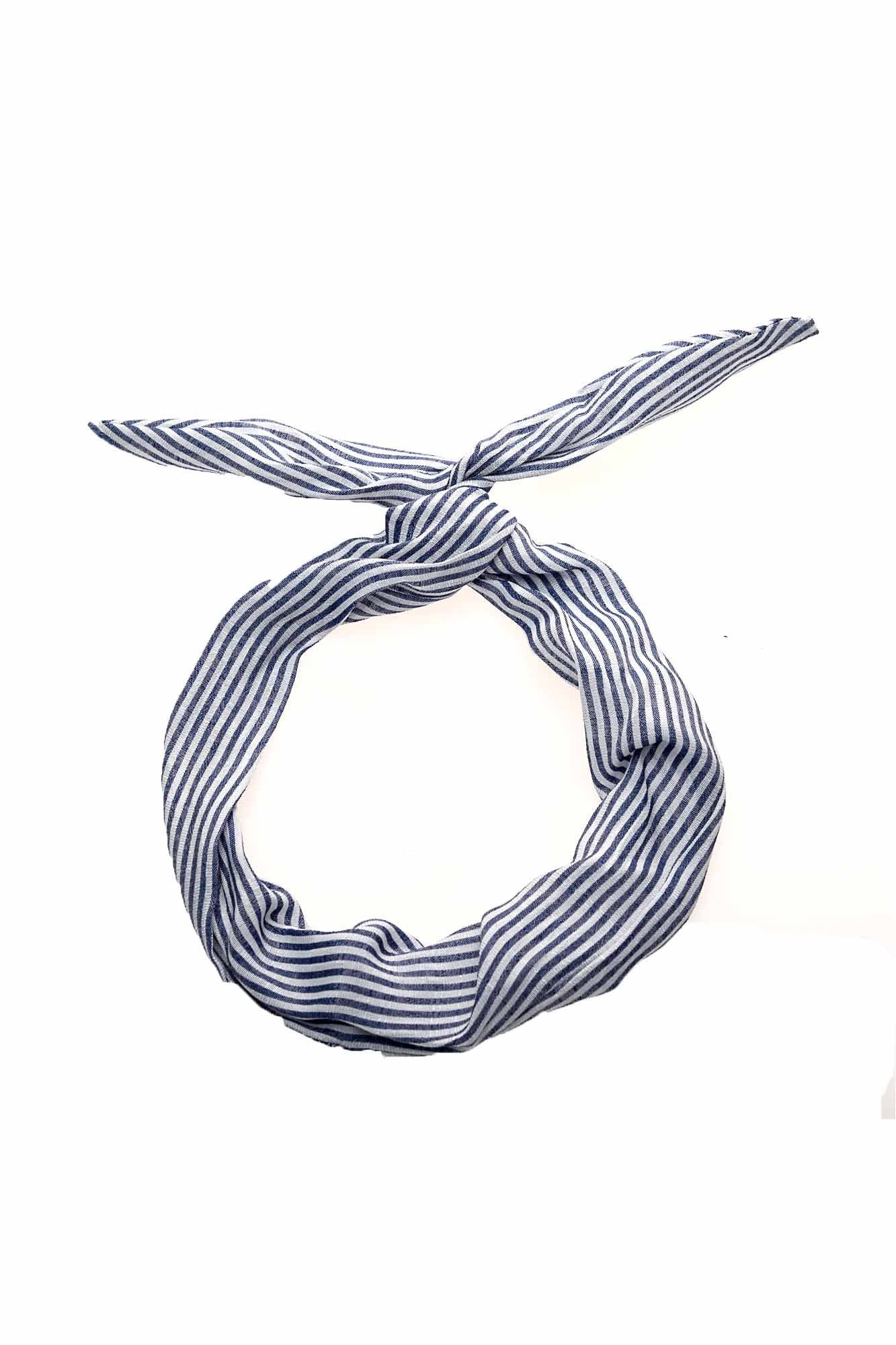 Cotton Stripe Wire Headband