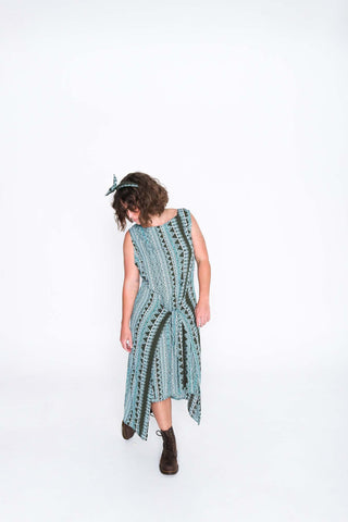 Aqua Aztec Fisher Dress