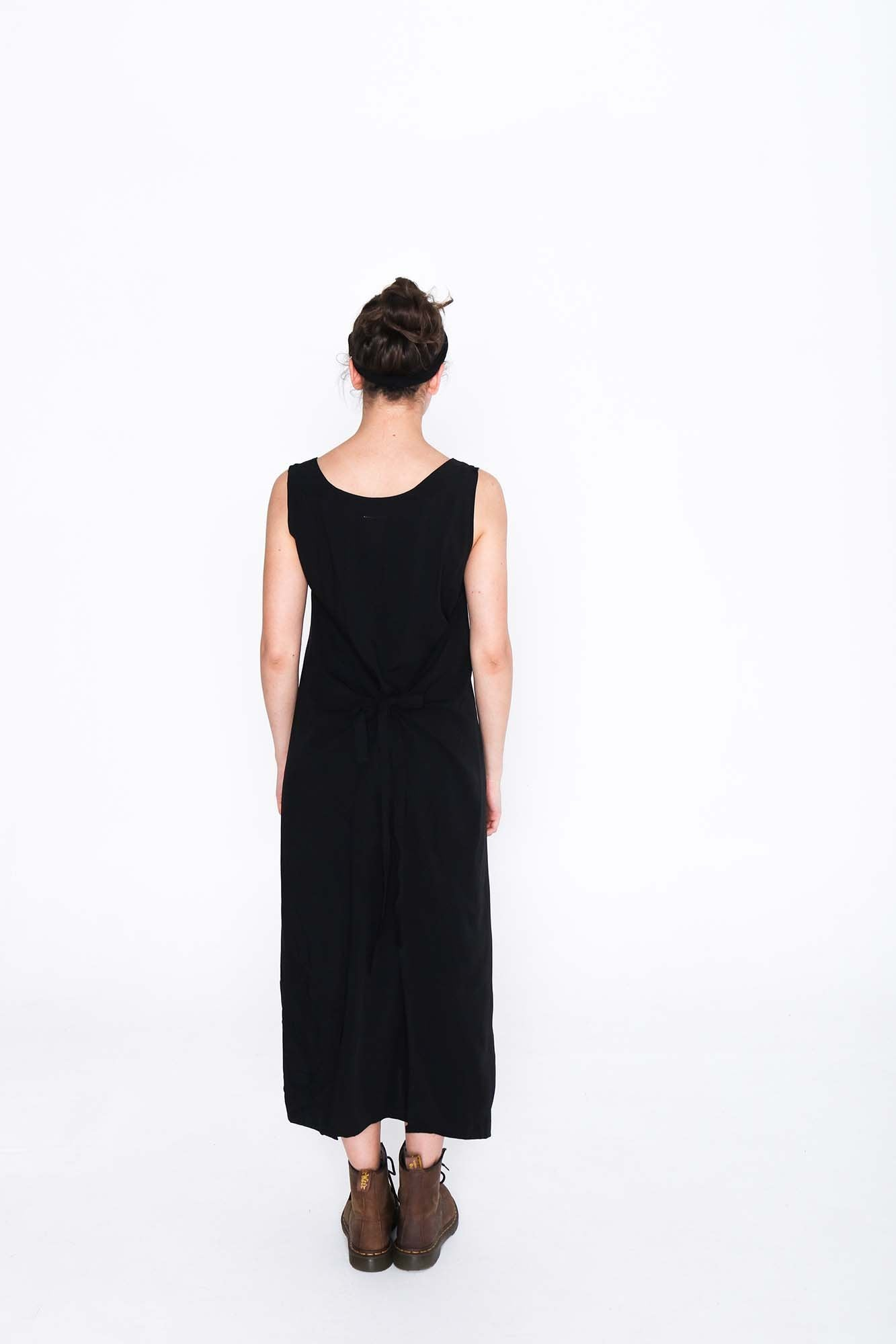 Black Fisher Dress - Back