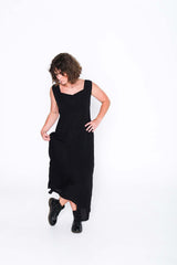 Black Fisher Dress - Side
