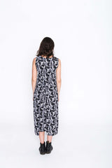 Black and White Toucan Fisher Dress - Back