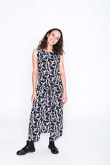 Black and White Toucan Fisher Dress - Front