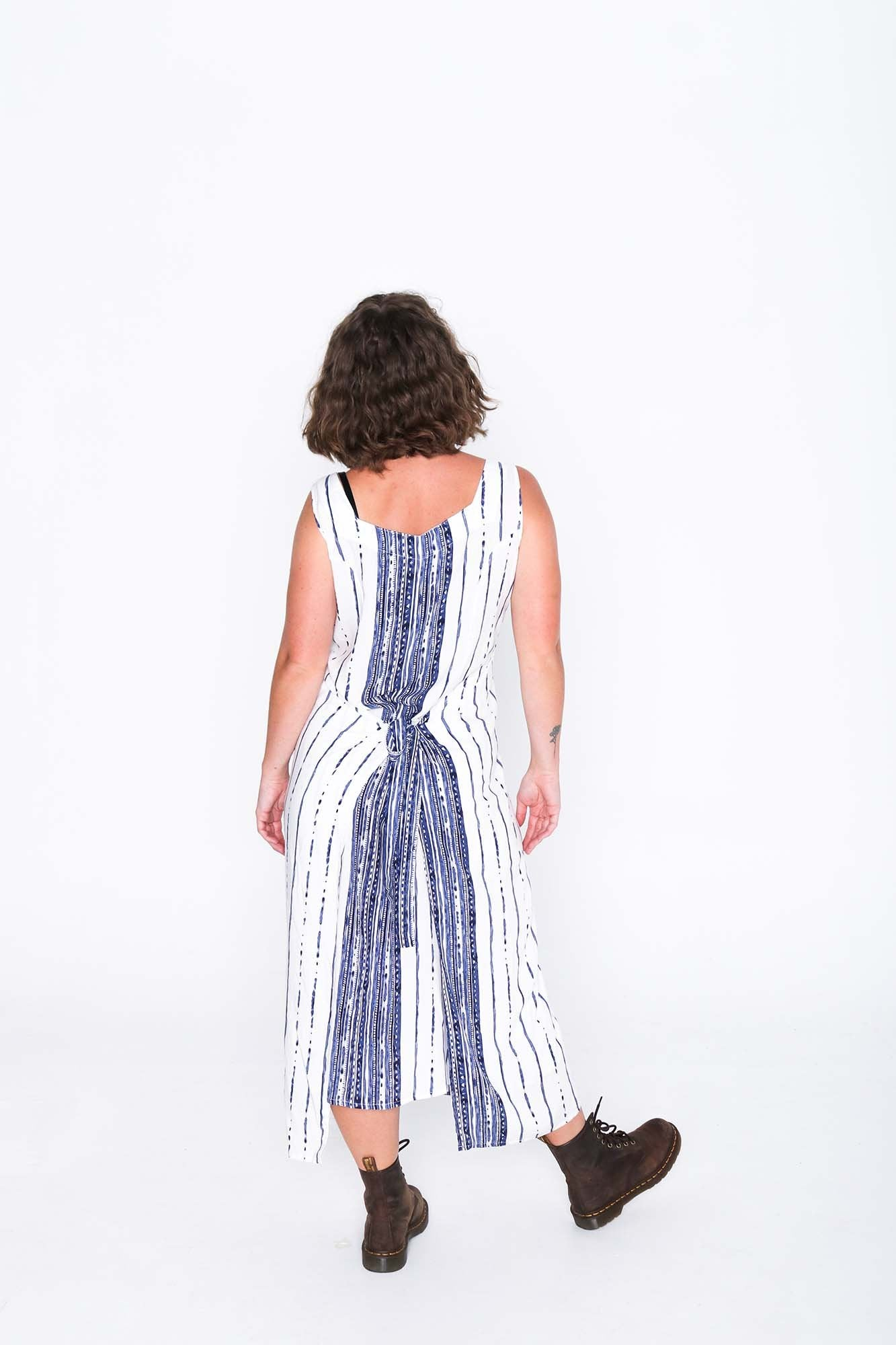 Lined Pages Fisher Dress - Back