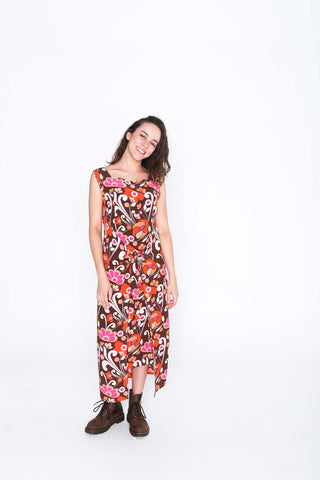 Retro Groove Fisher Dress - Front
