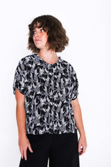 Black and White Toucan Gracie Shirt - Front