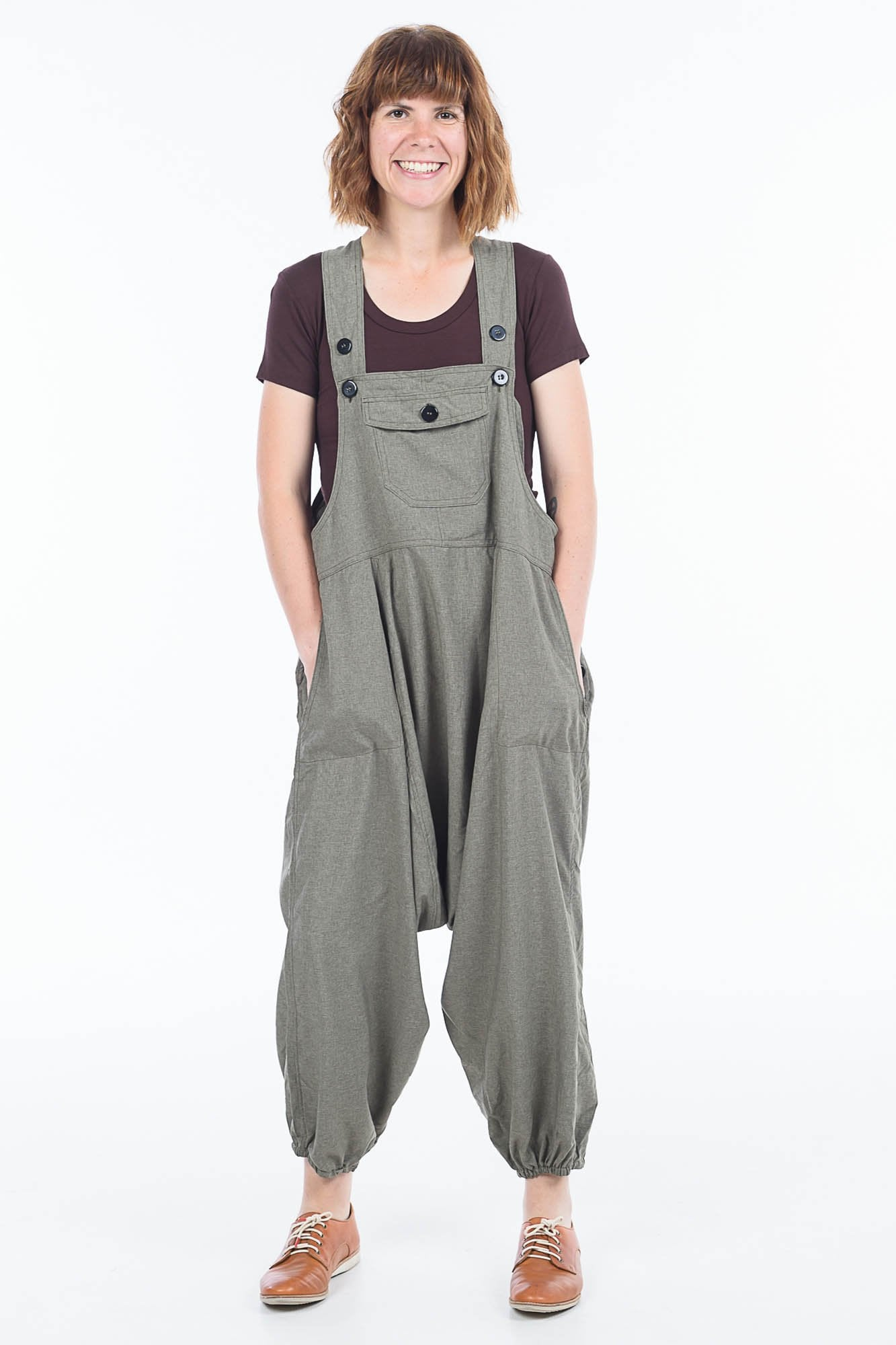 Green Denim Sammy Overalls