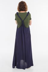 Midnight Moggie Overall Dress