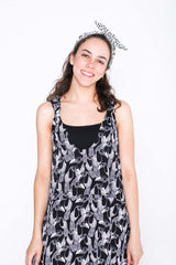 Black and White Toucan Moggie Dress - Close