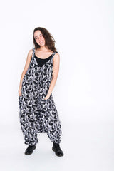 Black and White Toucan Moggie Overalls
