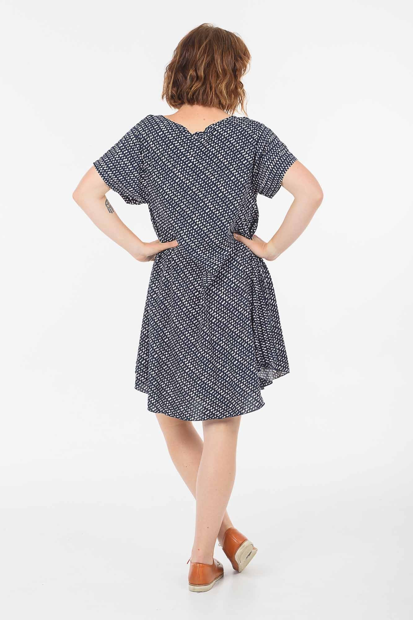Navy Check Charlie Dress