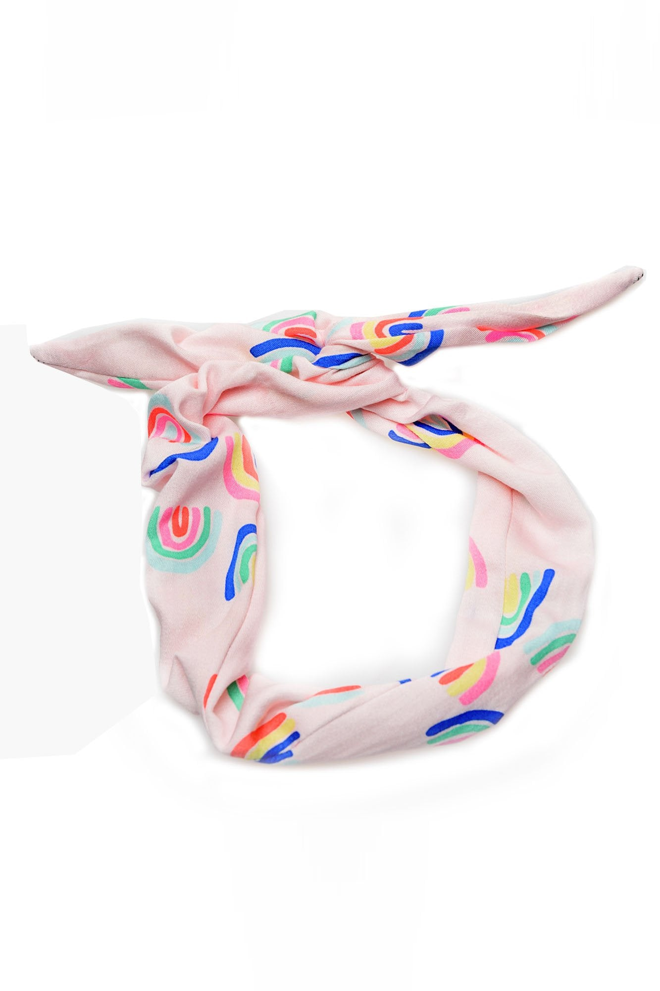 Pink Rainbow Wire Headband