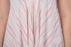 Pink and White Stripe Lola Overalls