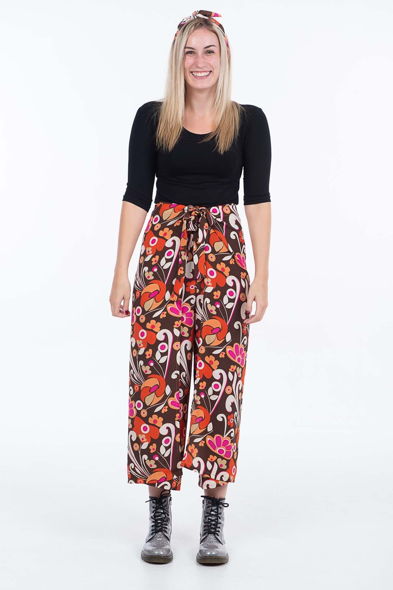 Retro Groove Wrap Pants