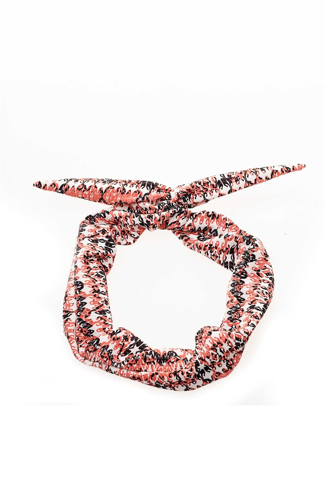 Salmon Crepe Wire Headband