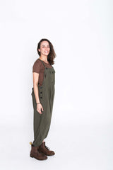 Army Green  Sammy Overalls - Side