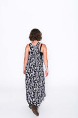 Black and White Toucan Sammy Overall Dress - Back