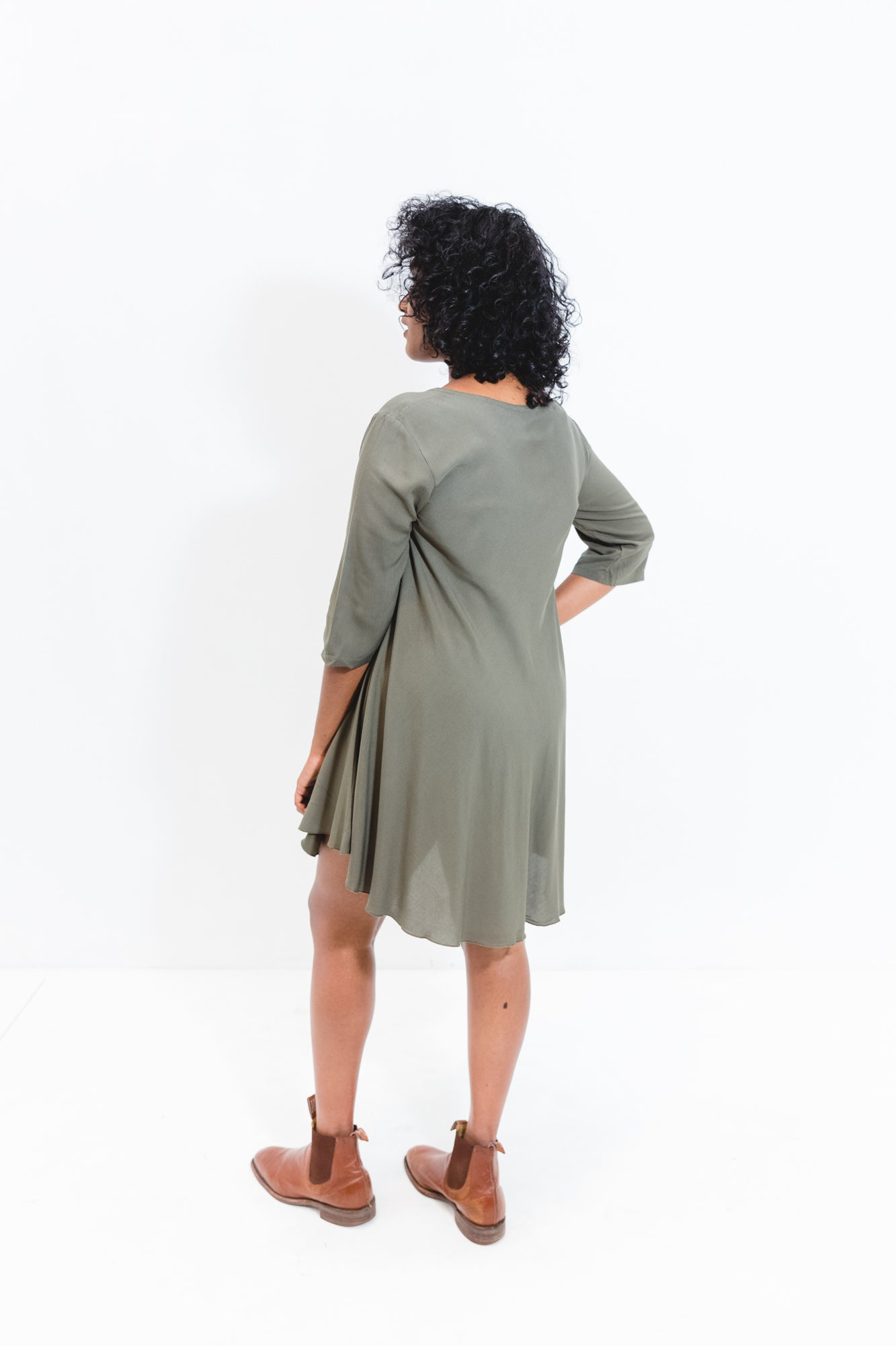 Cori Dress With 3/4 Sleeve