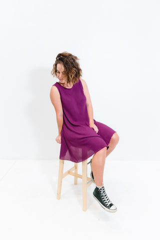 Eggplant Cori Dress Sleeveless