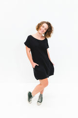 Black Socheat Pocket Dress