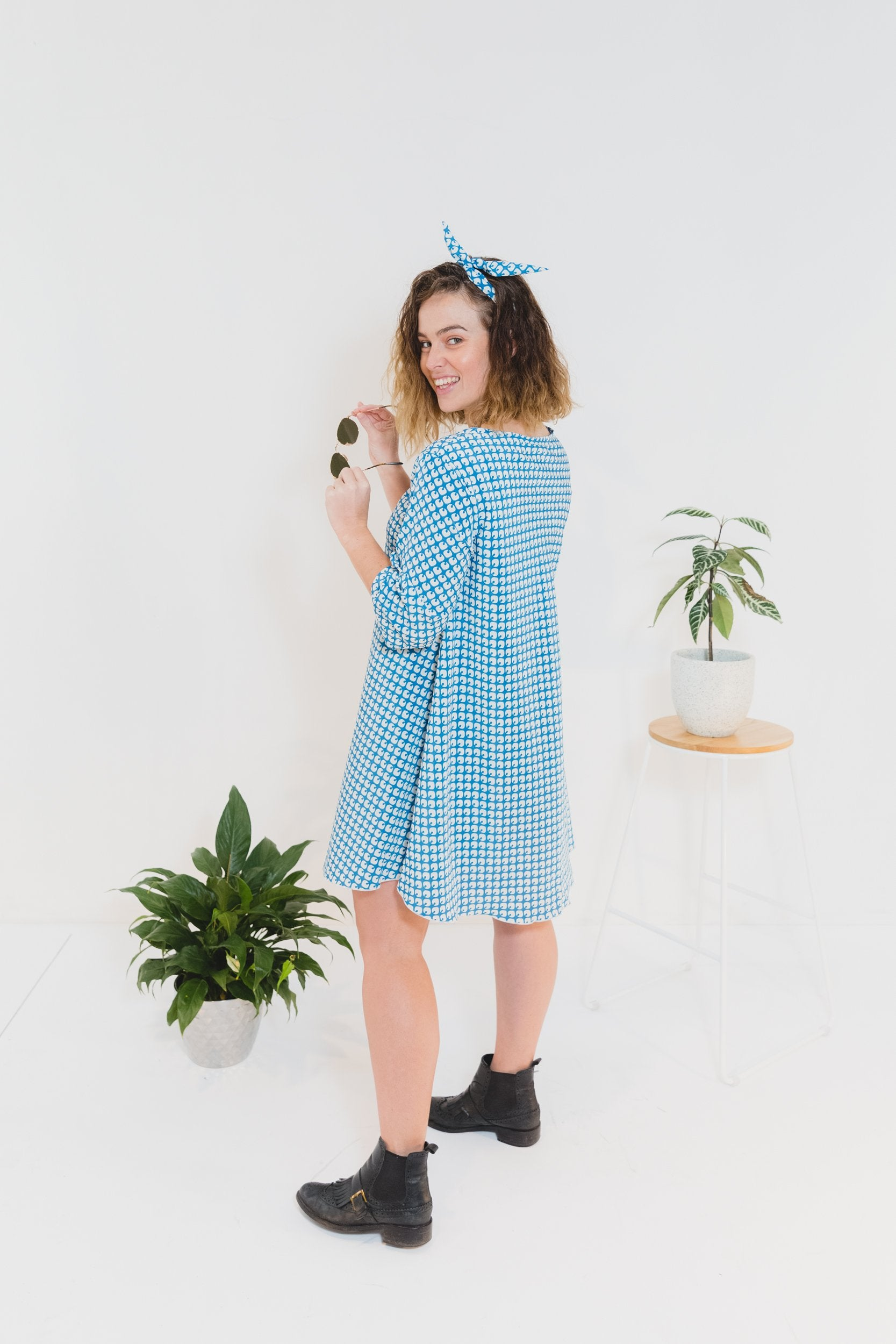Blue Fizz Charlie Dress With Short Sleeve