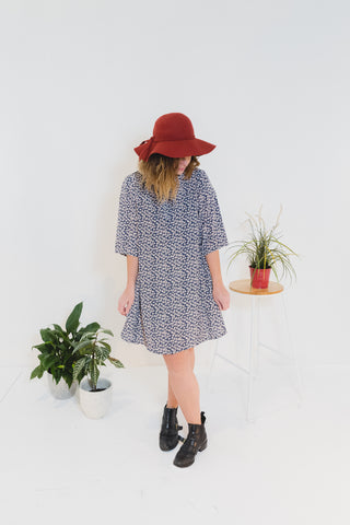 Sammy Dress Midnight Posies