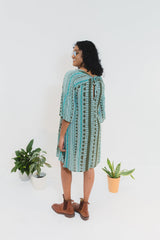 Aqua Aztec Susie Dress