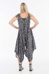 Silver Silk Floral Lola Overalls
