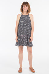 Silver Silk Floral Zara Dress